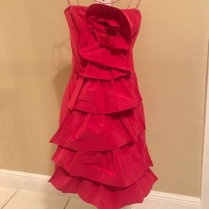 BCBG MaxAzria Hot Pink Formal Flower Dress